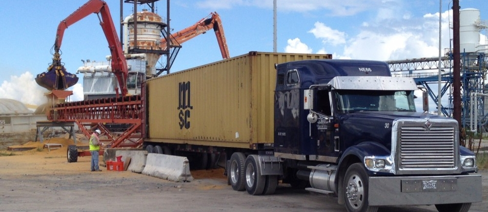 Barge, Truck, Railcar to Container Trans-loading Services